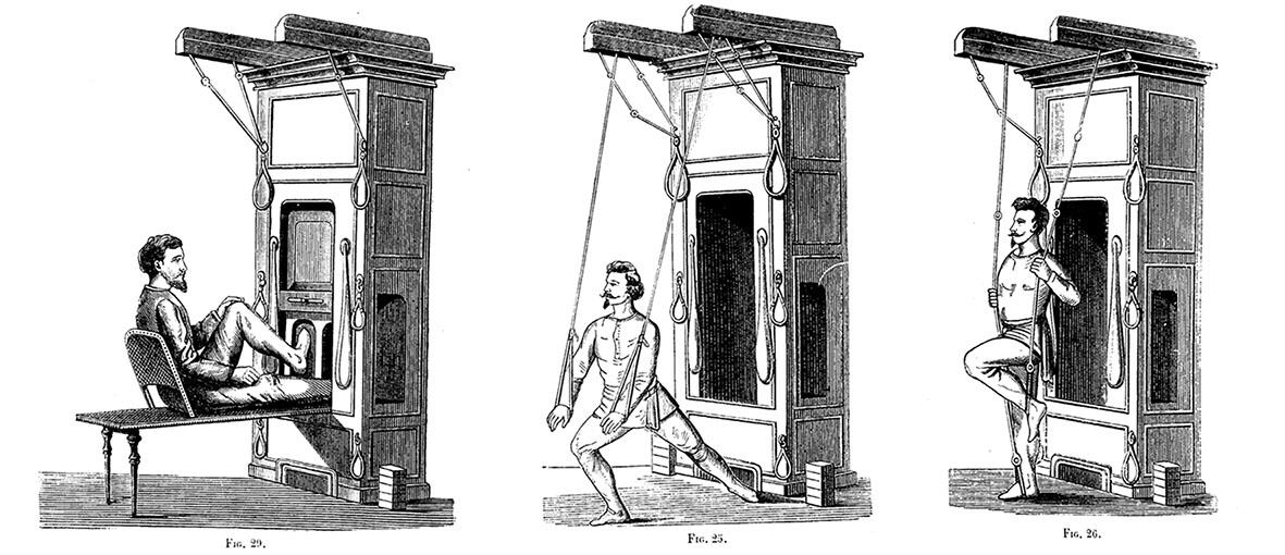 Máquinas gimnásticas de René Vian y Josep Charles Burlot