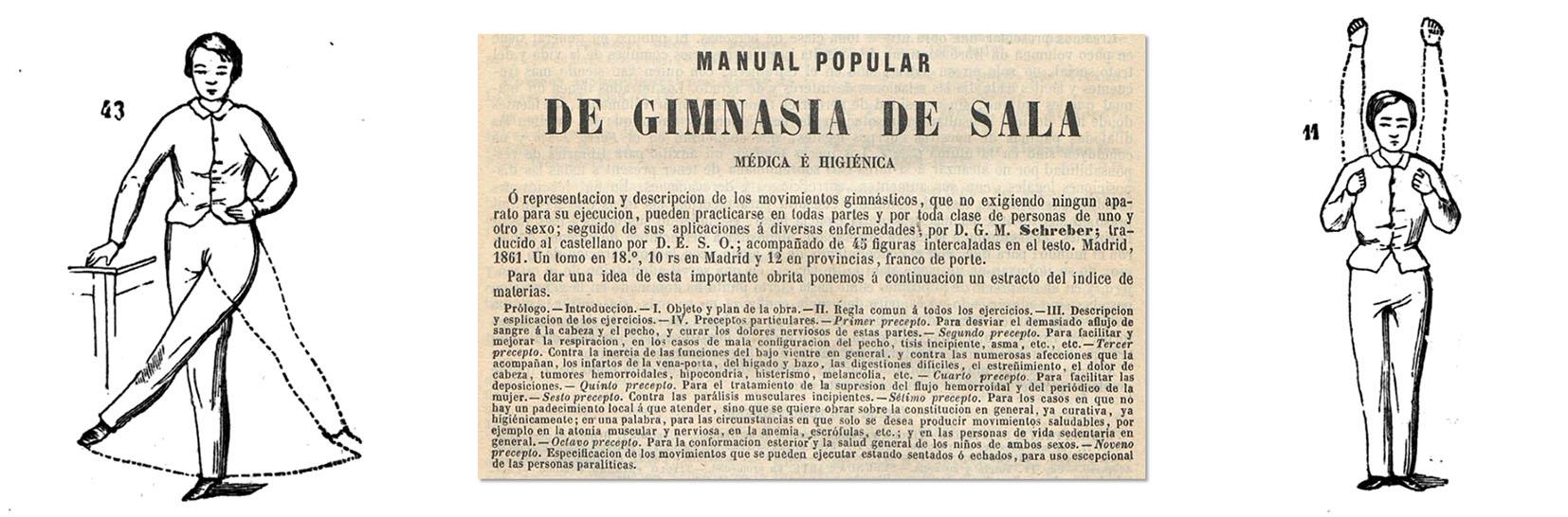 El Monitor de la Salud, Madrid, 15 de agosto de 1861. Ejercicios de gimnasia de sala