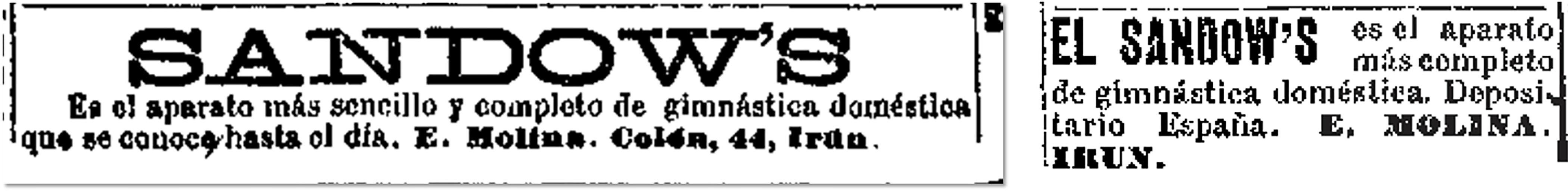 El Liberal, 11 de enero de 1900, p. 4; 15 de septiembre de 1900, p. 4