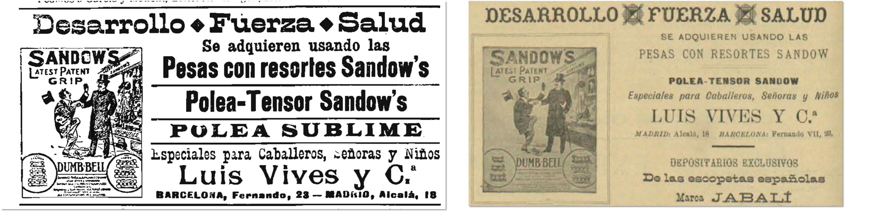 La Publicidad (Edición de la noche), Barcelona, 27 de diciembre de 1900, p. 1; Gente Vieja, Madrid 10 de mayo de 1901, p. 12