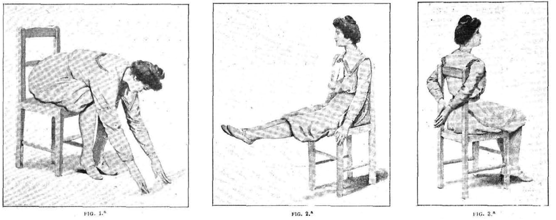 """""""Gimnasia con una silla de cocina"""", Alrededor del Mundo, 1903, 27 de agosto, p. 137"""